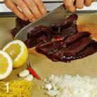 Рецепт Шашлычки из говяжьей печенки