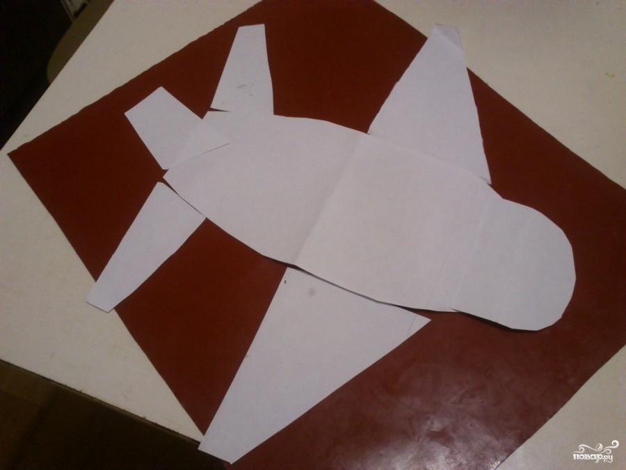 Торт в виде самолета - фото шаг 1