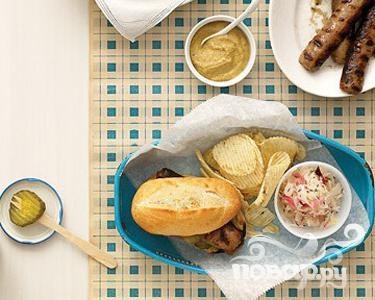 Рецепт Сэндвичи с сосисками и квашеной капустой