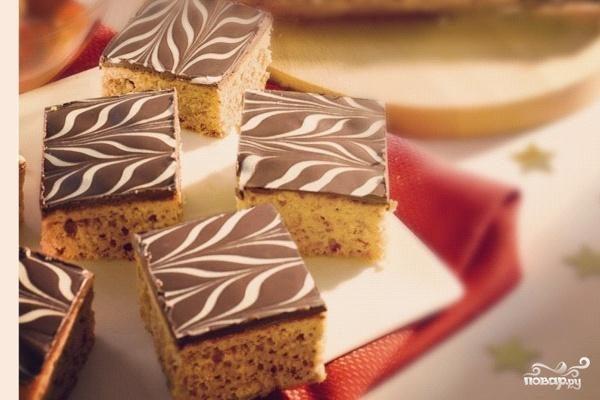 Рецепт Медовые кексы с шоколадной глазурью