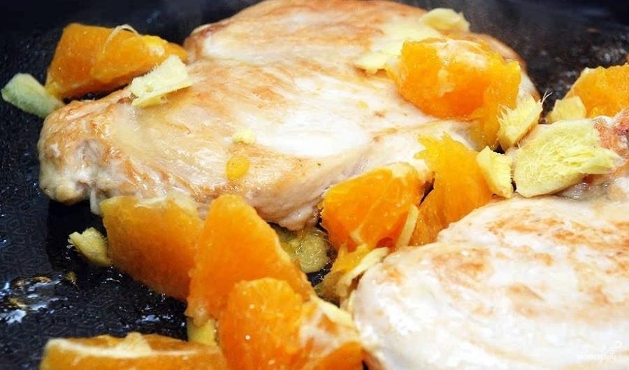 Курица с имбирем и апельсинами рецепт
