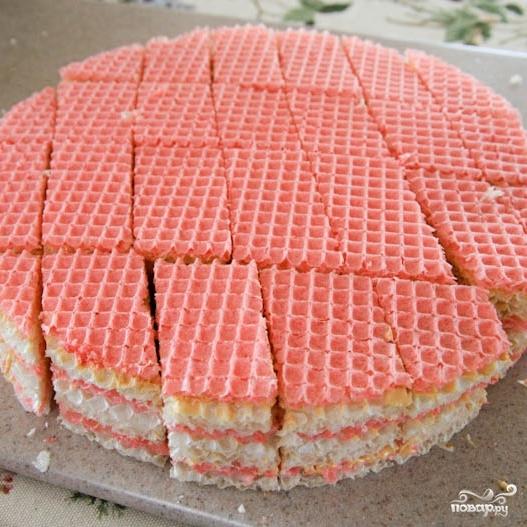Украинский вафельный торт - фото шаг 8