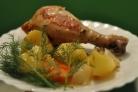 Курица с овощами в пакете для запекания