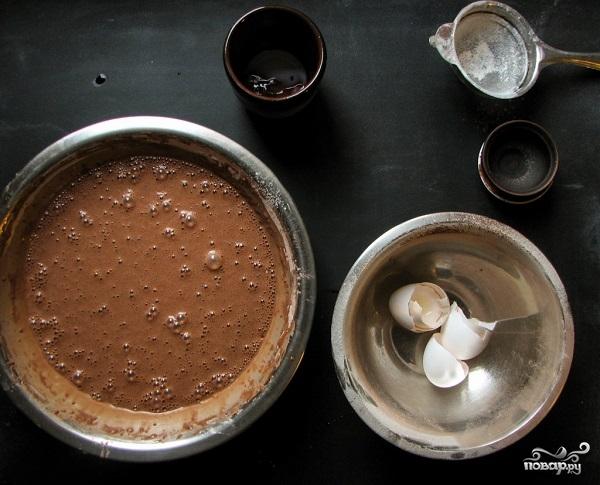 Блинный торт шоколадный - фото шаг 3