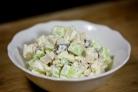 Салат с курицей, черносливом и огурцами