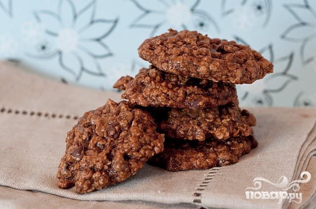 Овсяное печенье с кофе и шоколадом - фото шаг 3
