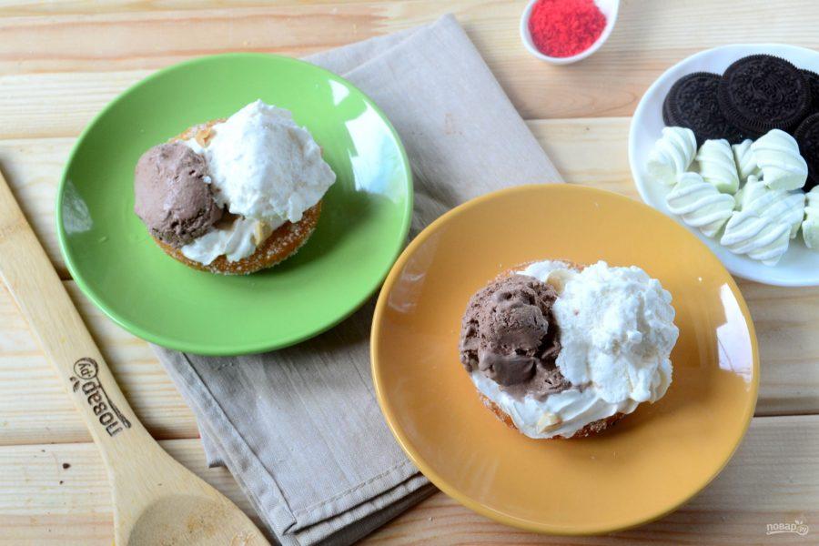 Королевский бургер с мороженым