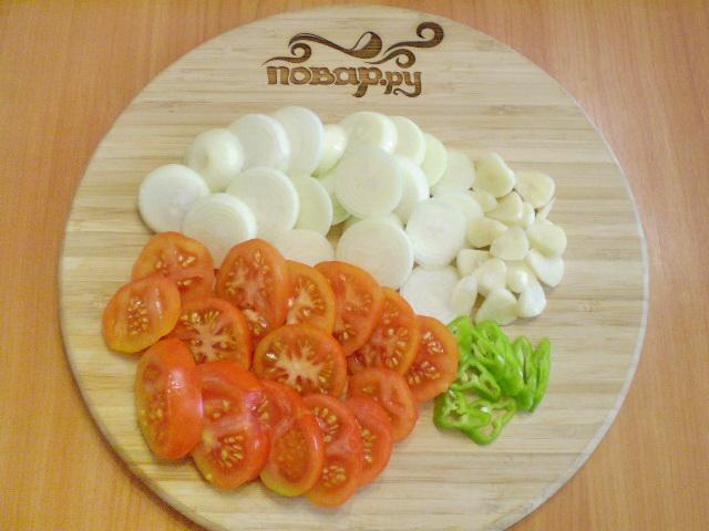 Рецепт Помидоры с луком на зиму