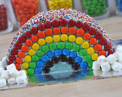 Детский торт на день рождения Радуга: приготовление