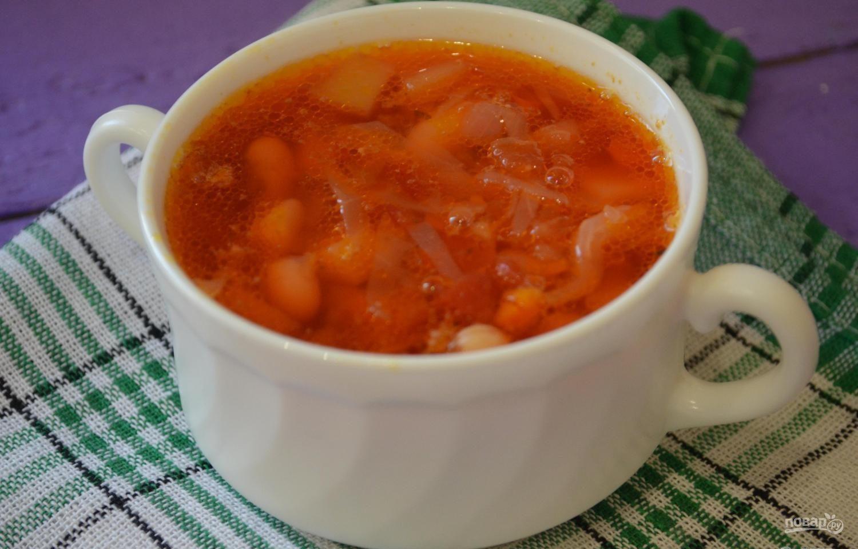 Борщ без мяса с фасолью рецепт пошаговый с