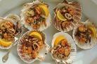 Салат из морепродуктов с руколлой