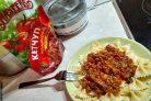 Лучший рецепт макарон по-флотски с овощами и кетчупом Махеевъ