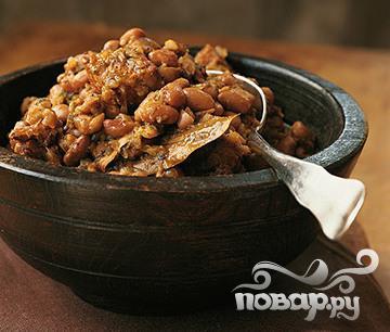 Рецепт Свинина с фасолью и перцем чили