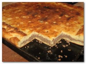 Рецепт Слоеный пирог с фаршем