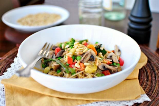 Запеченные овощи с грибами в духовке - фото шаг 6