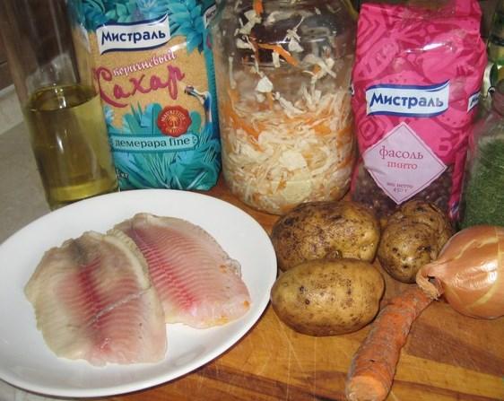 Рецепт Щи донские с рыбой