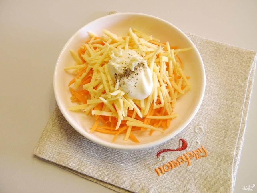 Салат из морковки и сыра - фото шаг 4