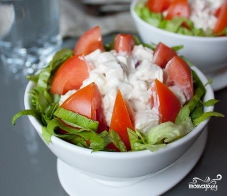 Салат из курицы и помидоров - фото шаг 5
