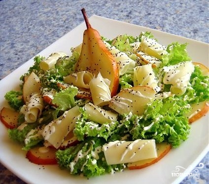 Салат из груши с сыром - фото шаг 6