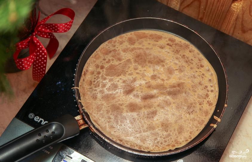 Блинный торт со сливочным кремом - фото шаг 4
