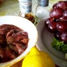 Рецепт Салат с виноградом и куриной печенью