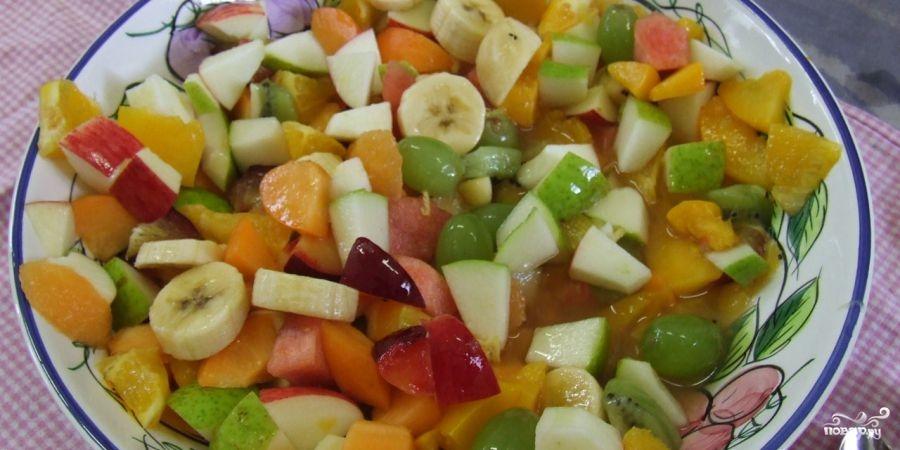 рецепт салат из фруктов по граммам