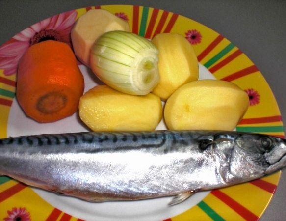 Рецепт Рыбный суп со скумбрией