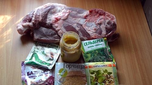 Рецепт Баранья лопатка, запеченная в фольге