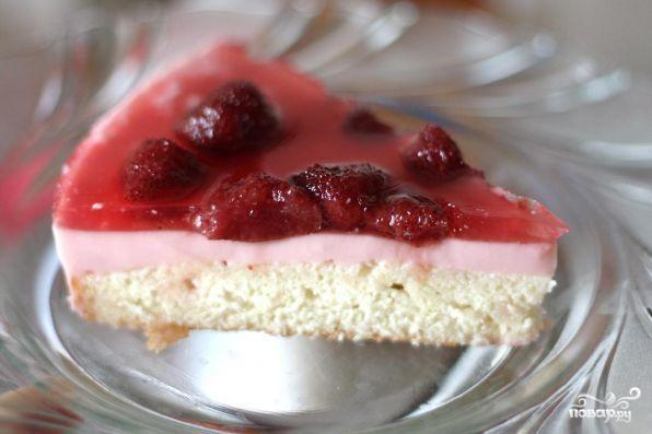 Клубничный торт-желе