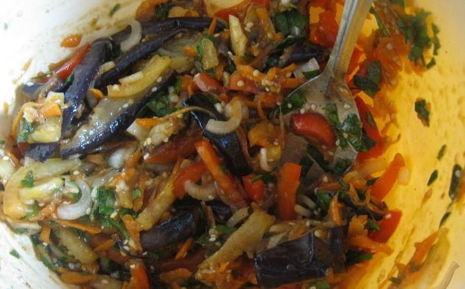 Салат баклажаны по-корейски - фото шаг 8