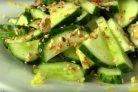 Легкий весенний салат с огурцами
