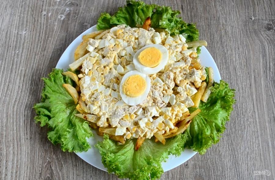 "Салат ""Петушок"" с картошкой фри - фото шаг 9"