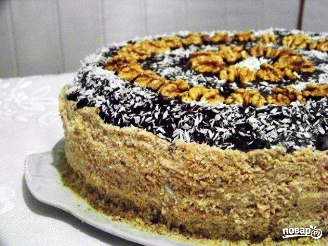 Торт из сухарей