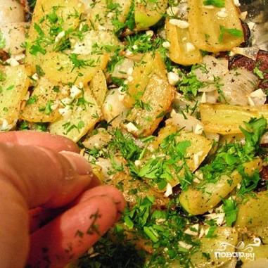 Баклажаны с раздельно обжаренными овощами - фото шаг 10