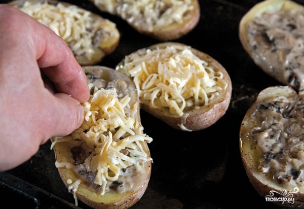 Жульен в картофеле - фото шаг 10