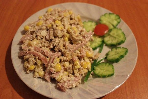 Салат с блинчиками - фото шаг 8