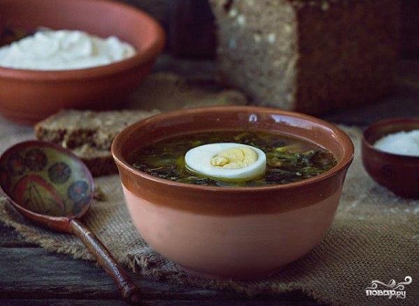 Суп из щавеля и крапивы