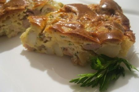 Заливной пирог с капустой на кефире - рецепт с фото пошагово.