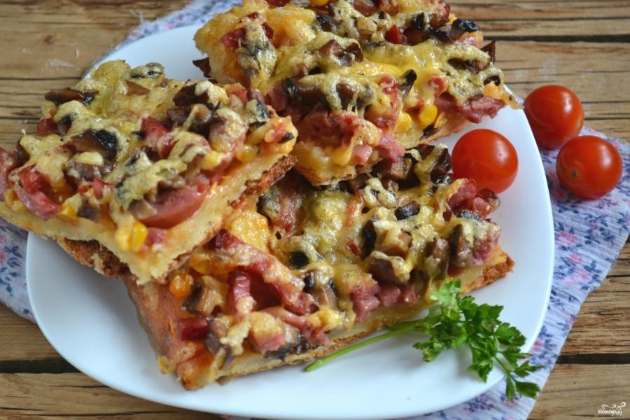 бездрожжевое тесто для пиццы на сметане рецепт с фото