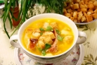 Сырный суп с ребрышками