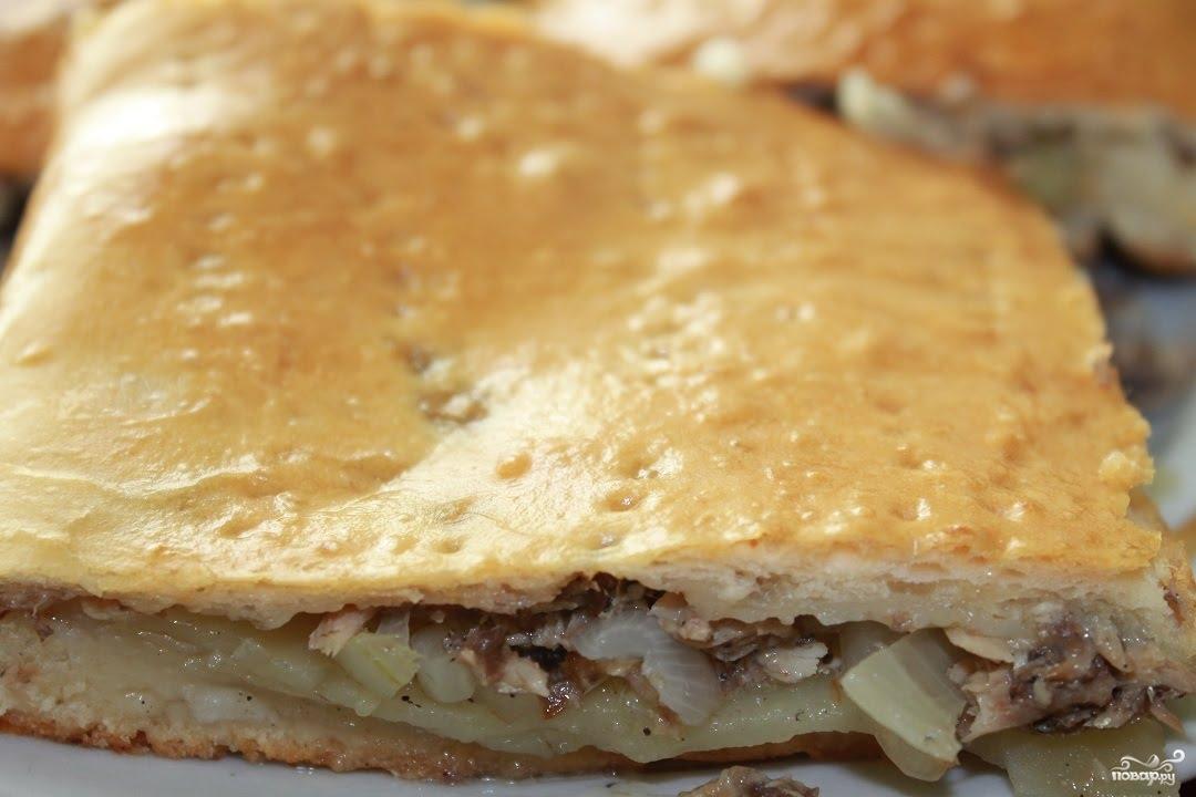 Пирог с сайрой пошаговый рецепт с фото