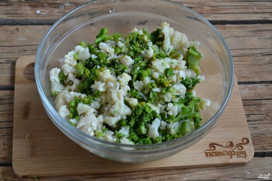 Котлеты из брокколи и цветной капусты - фото шаг 3