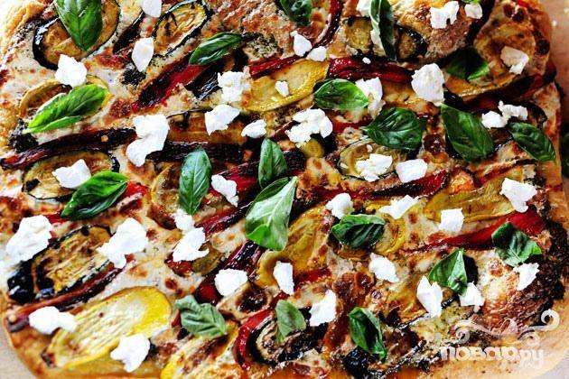 Вегетарианская пицца на гриле