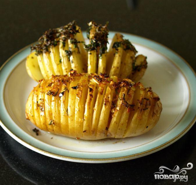 Картофель в форме ежика