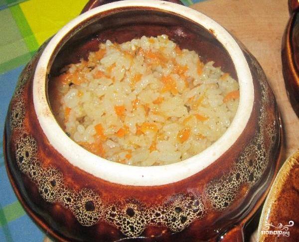 Свинина с рисом в горшочке