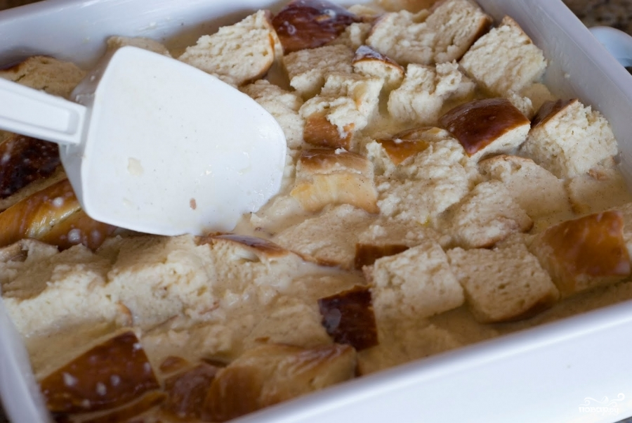 Французский хлебный пудинг с ягодами - фото шаг 5