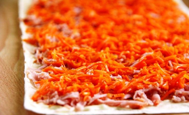 Лаваш с морковкой - фото шаг 3