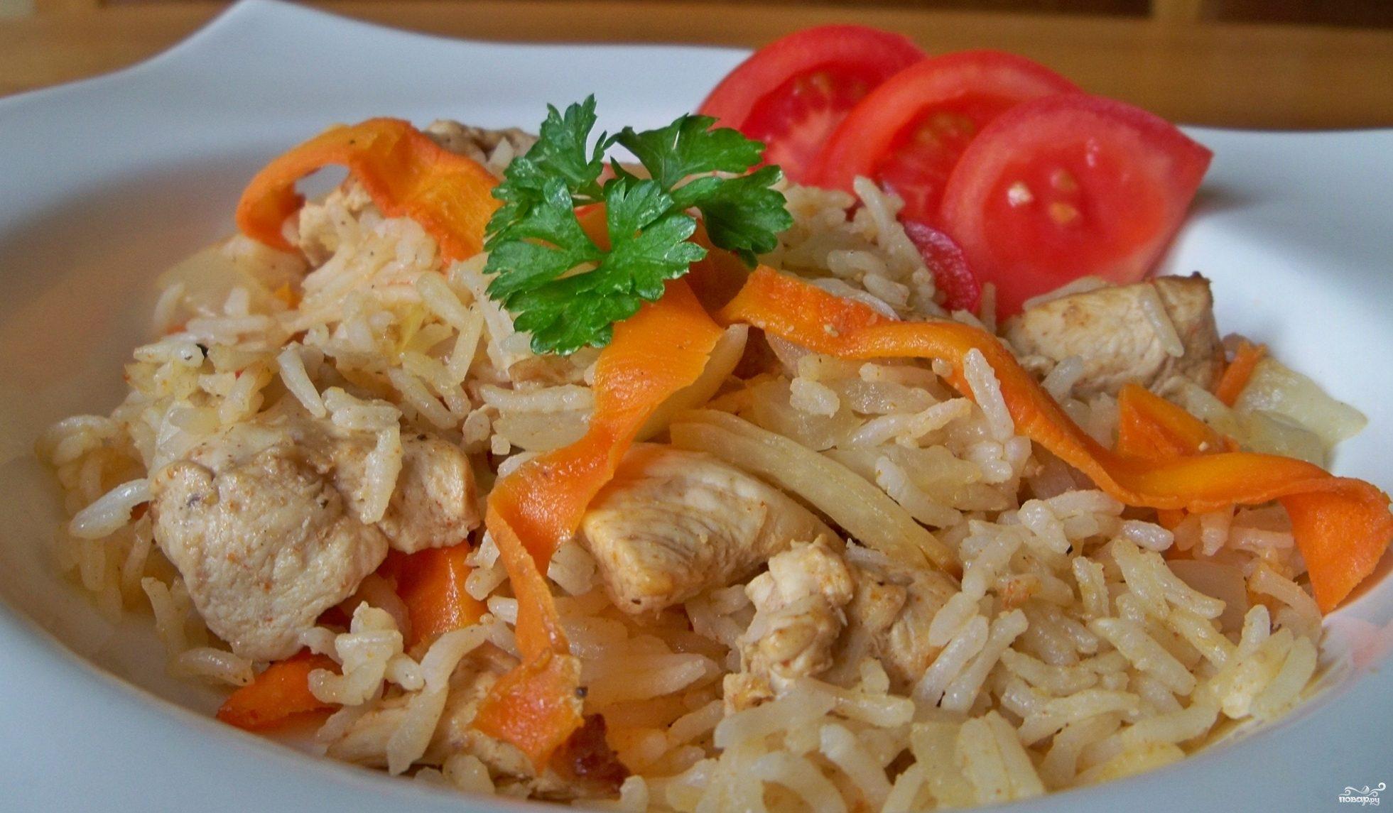 курица с рисом в мультиварке поларис рецепты