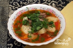 Шурпа из баранины по-узбекски - фото шаг 9