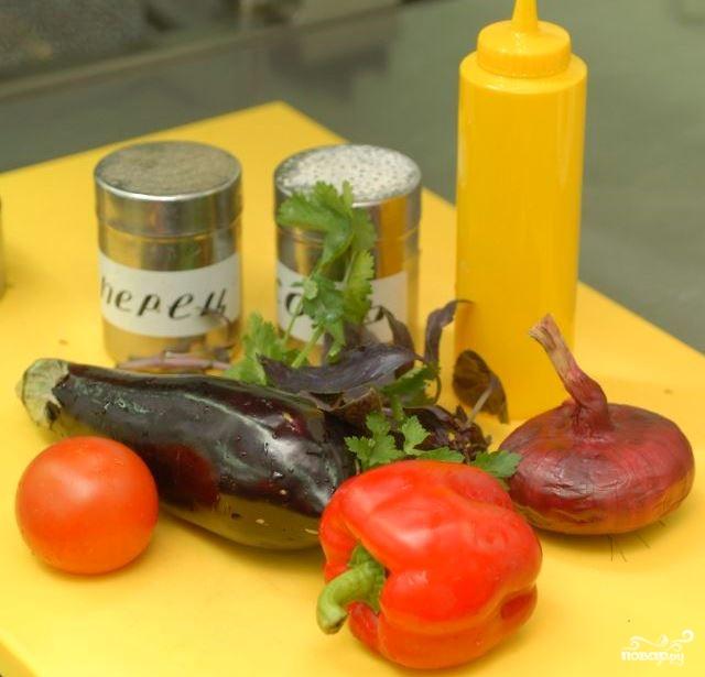 Рецепт Салат из овощей гриль